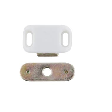 Small Magnetic Catch White 32 mm
