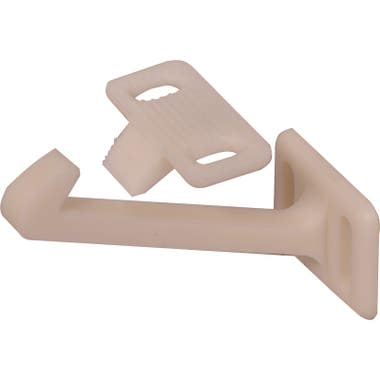 Childproof Catch White Pack 10, 60 mm length