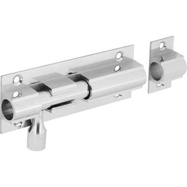 Wide Straight Door Bolt 102mm Polished Chrome