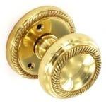 Georgian Mortice Sprung Door Knob - Polished Brass (Pair) 62mm