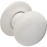 Boston Mortice Knob Set White Ceramic (Pair)