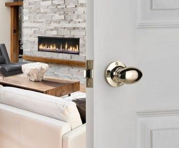 Brass door knobs category